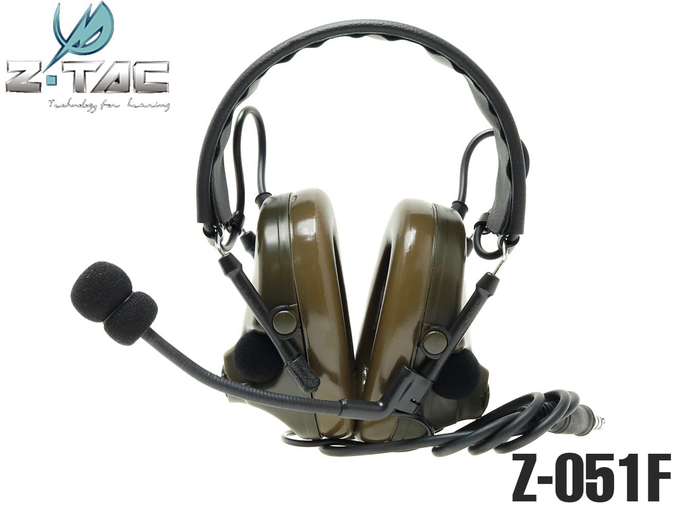 【正規代理店】Z-TACTICAL CMTC III タクティカルヘッドセット FG◆Zタクティカル CMTC 3 ノイズカット/サラウンド機能 NAVYSEALs装備に
