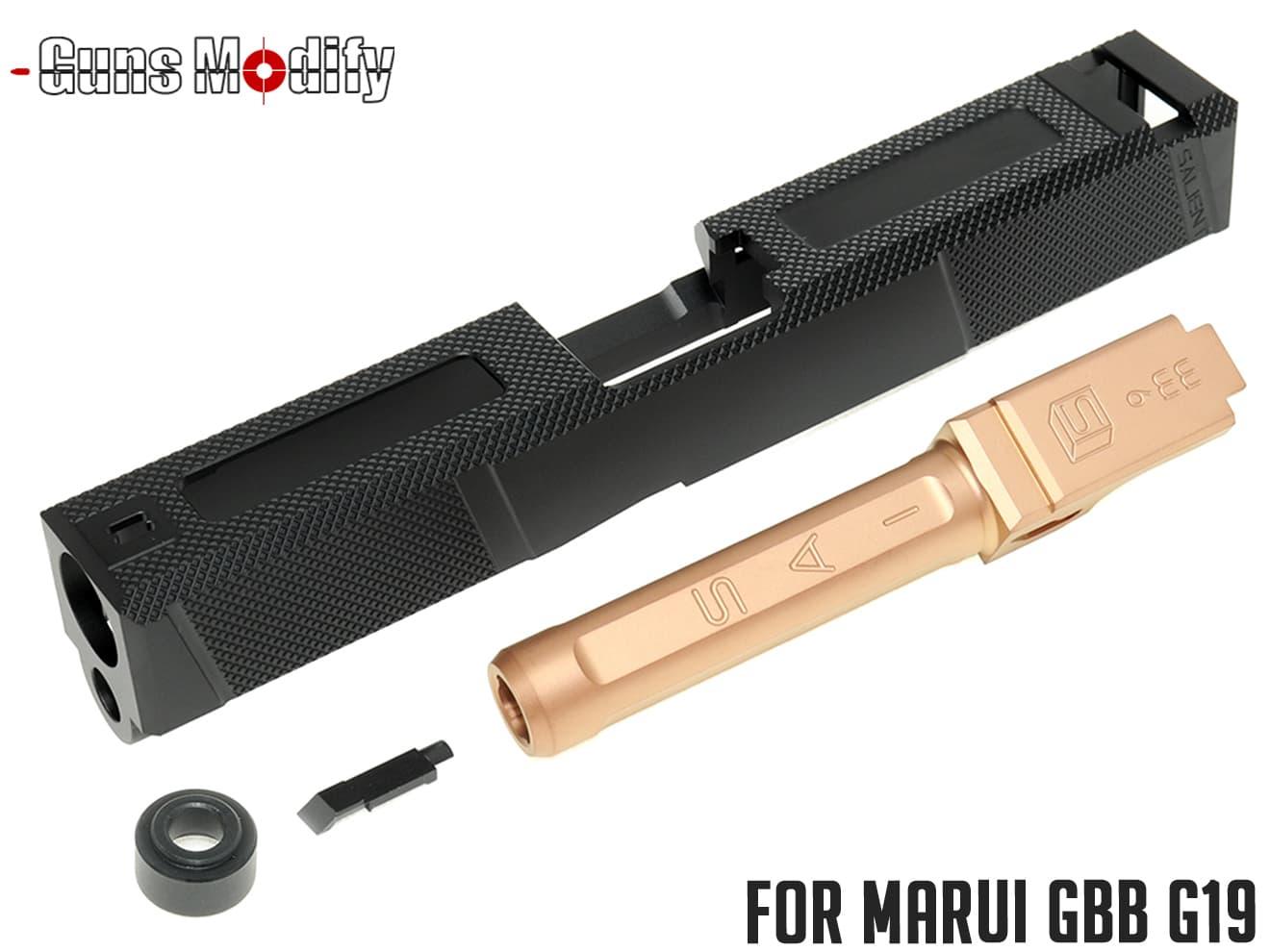 Guns Modify G19 SA Tier1UTスタイル アルミスライド&ボックスフルートステンレスバレル ローズゴールド◆マルイ新型G19 SAI Utilityタイプ