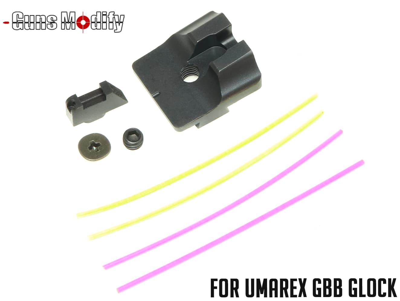 GUNS MODIFY WTスタイル ファイバーオプティックサイト for UMAREX GLOCK◆グロック用 集光ファイバーサイト 視認性向上 エイミング補助に