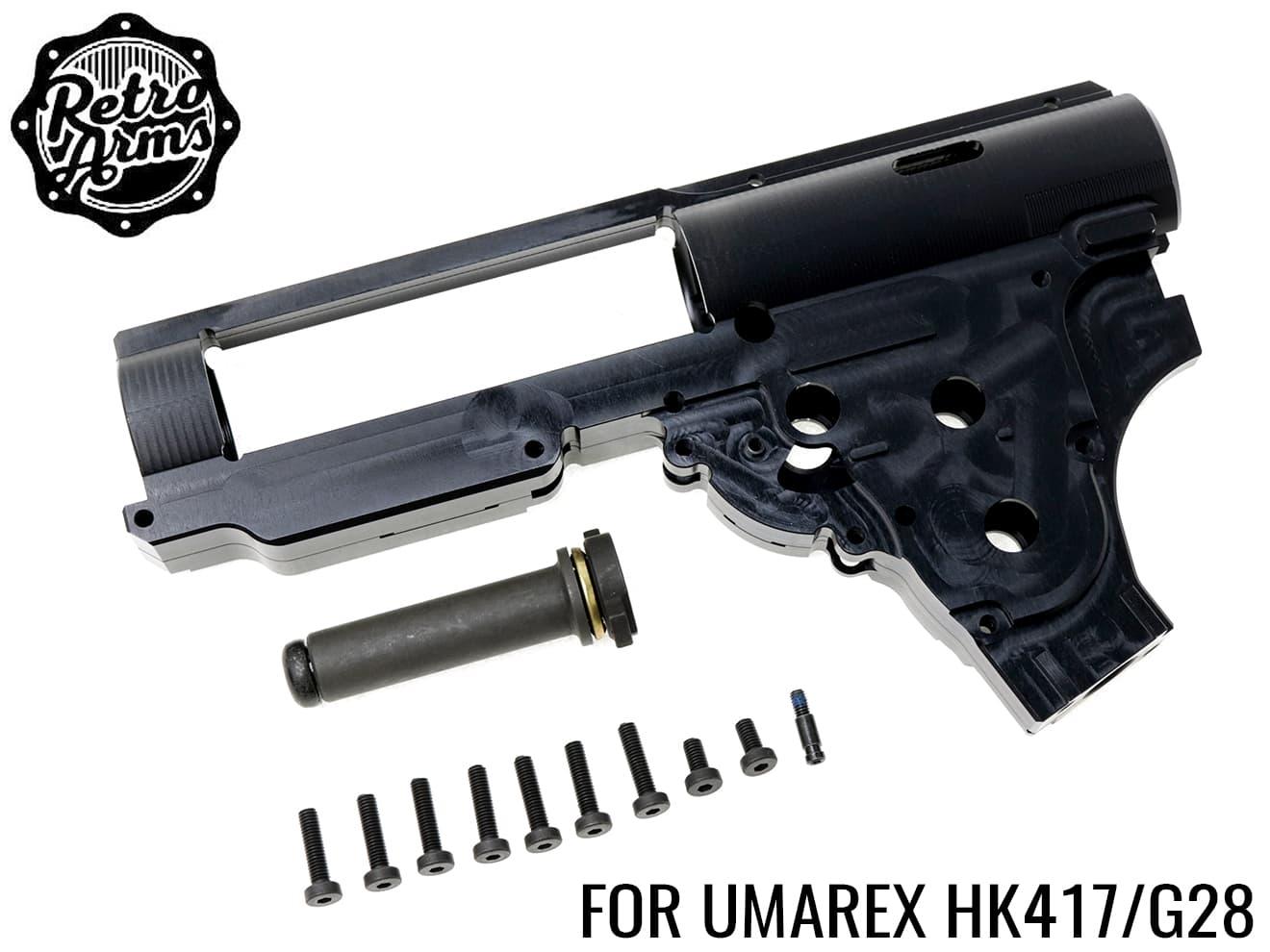 【送料無料】RETRO ARMS CNC メカボックスGEN2 V2.2 8mm - QSC/JP Ver◆ジュラルミン/強化メカボックス/HK417/G28/日本仕様/VFC