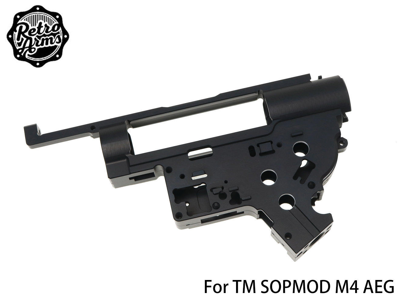 【送料無料】RETRO ARMS CNC メカボックスSOPMOD M4 8mm JP Ver◆東京マルイ/次世代電動ガン/強化メカボックス/ジュラルミン