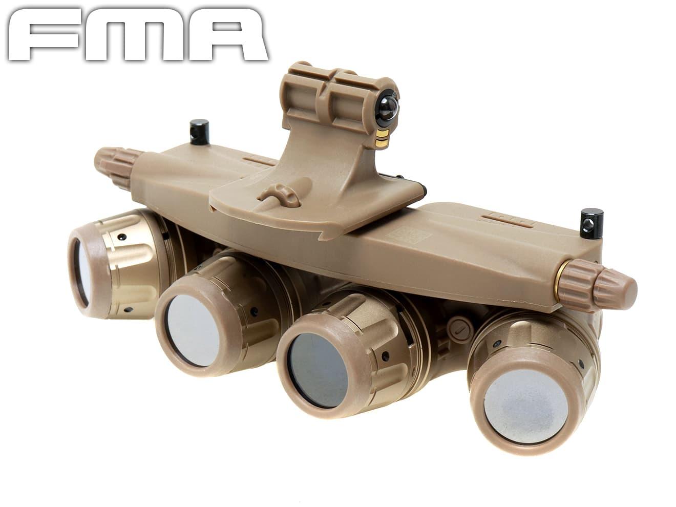 AN/AVS10タイプ ダミーナイトビジョンゴーグル◆AN/AVS用 ヘルメットマウント用 DE ダミーNGV 防水ハードケース付 リアルレプリカ