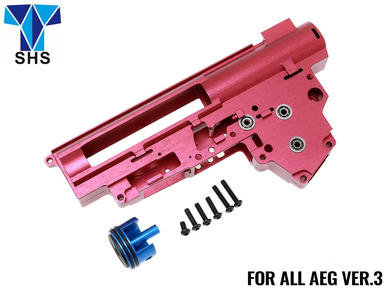 Super Shooter A7075 CNC メカボックス 9mm Ver.3◆電動ガン バージョン3 メカボックス対応 A7075CNC製ハイエンドメカボックス ミリネジ化