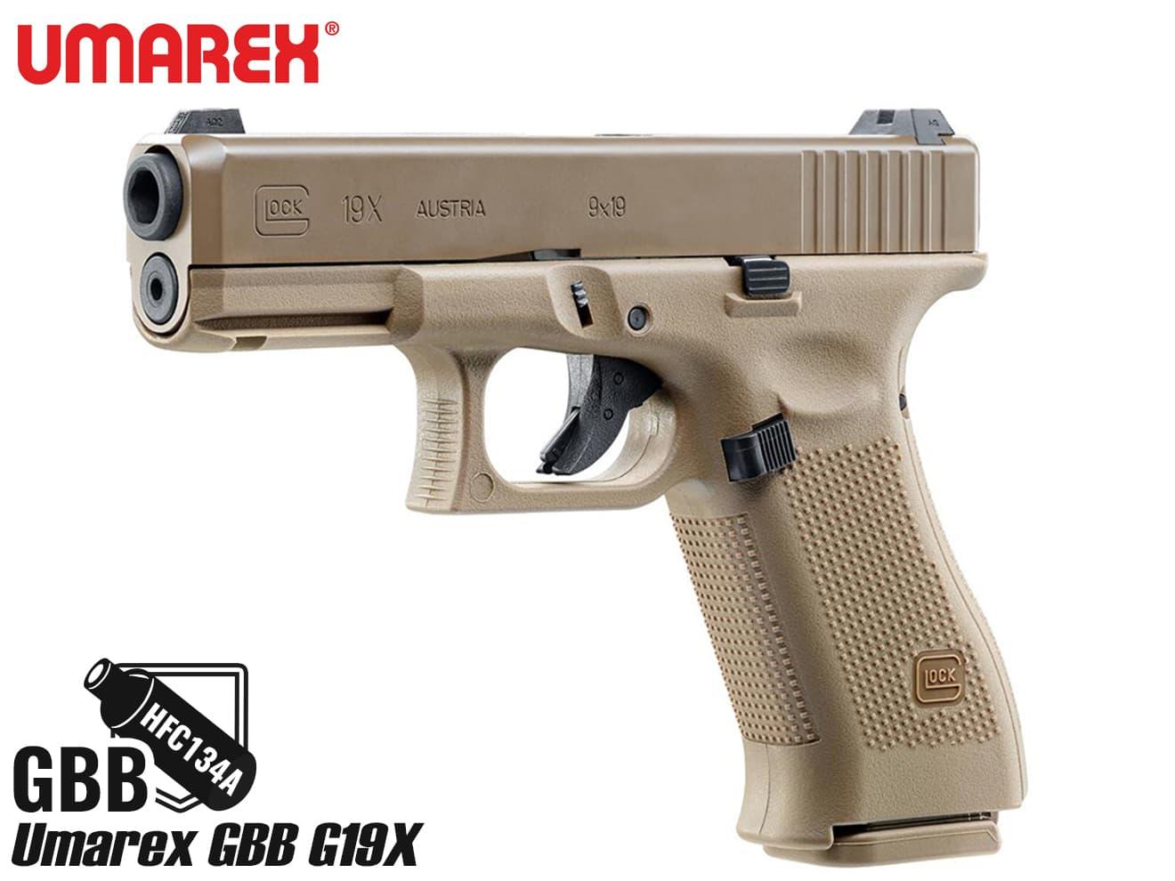 Umarex ガスブローバックハンドガン G19 X TANカラー◆海外製/GlockAirsoft/ガスブロ/GBB/グロック19/G19/送料無料/ウマレックス
