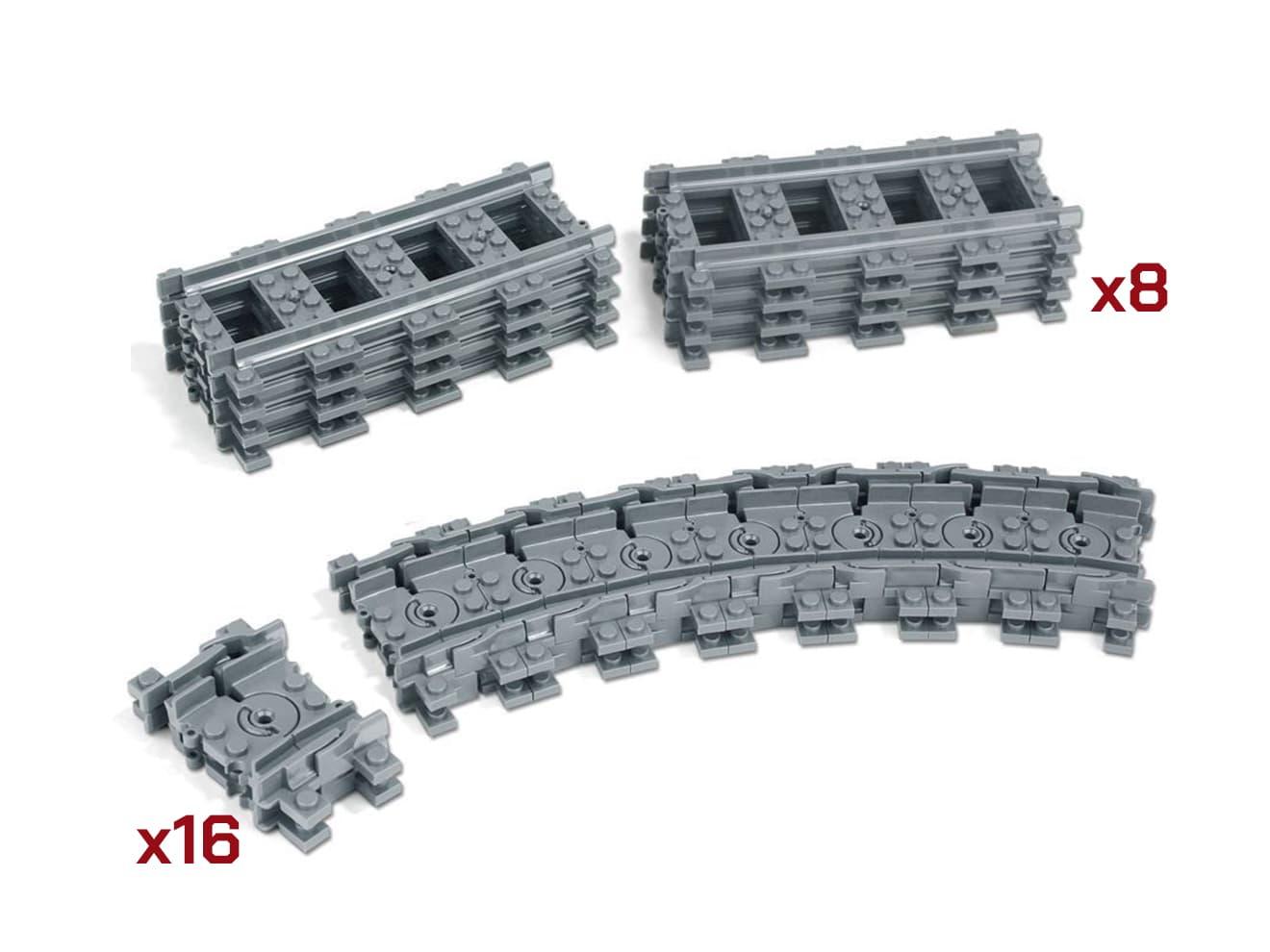 レール レイル レールセット 増設 ブロック トイ TOY フィギア 組み立て モデル 模型 プラスティック プラスチック レール部品 拡張パーツ 曲線 電車 レール延長 低価格化 ご予約品 直線レールx8+フレキシブルレールx16ユニット 貨物列車 トレイン 機関車 鉄道玩具 鉄道模型 玩具 トレインブロックシリーズ゙用