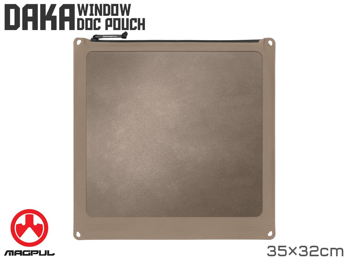 Magpul DAKA Window ドキュメントポーチ[35cm×32cm] FDE◆マグプル ダカポーチ 半透明 MA321530313 中身が見える 汚れに強い サバゲー収納