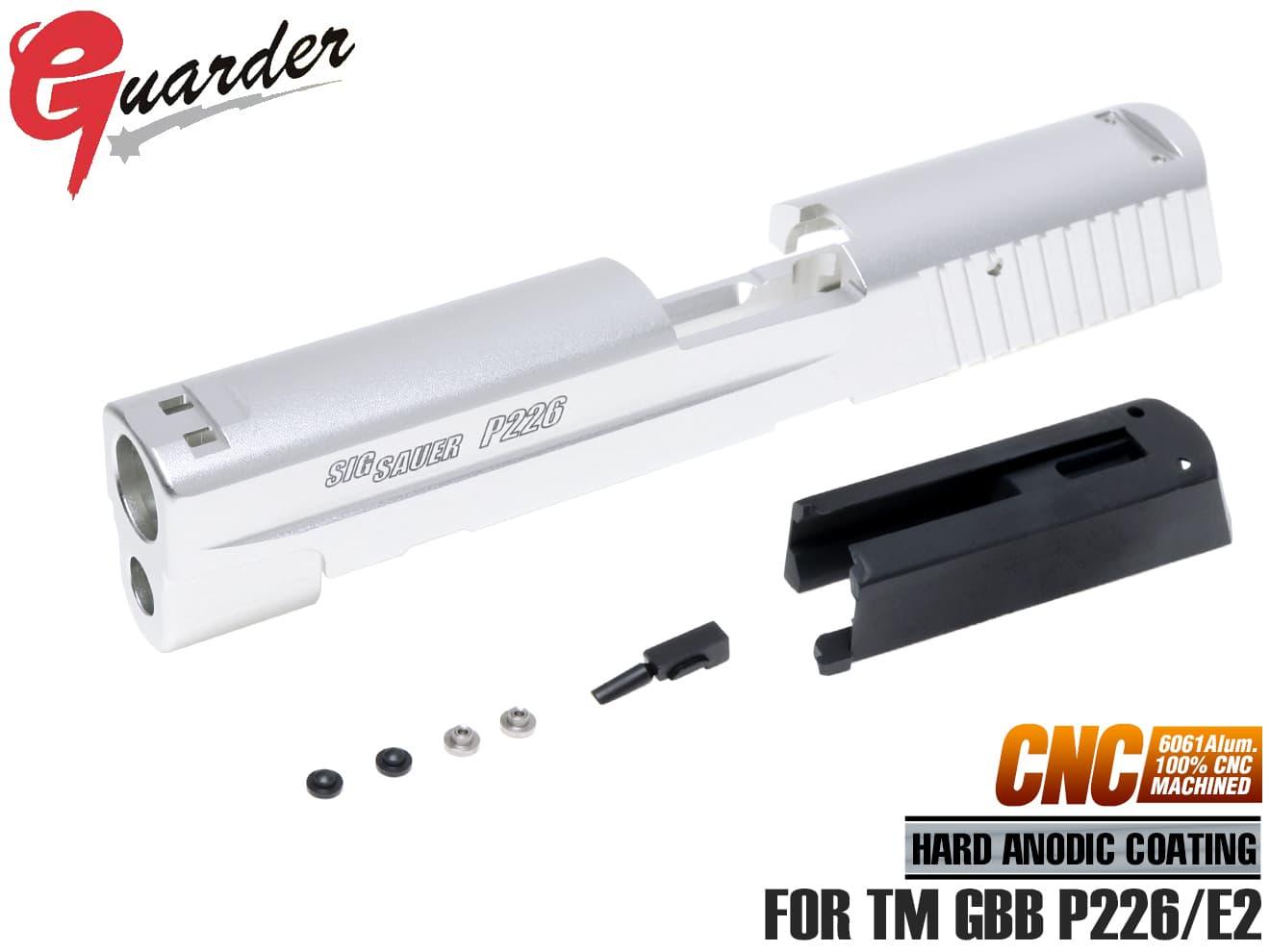 P226/E2用◆マルイ A6061 Late P226-47(SV)■GUARDER for Version Marking マルイ リアルに再現 アルミ CNCスライド ガスブロ 実物後期型形状 P226/E2用