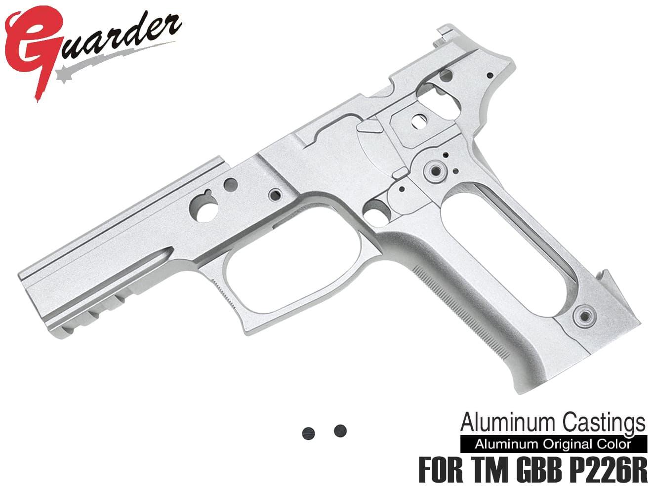 P226-62(A)■GUARDER P226 RAIL フレームKIT Late Version Marking マルイ P226R用◆オリジナルアルミカラー TM GBB P226 RAIL対応 カスタムフレーム