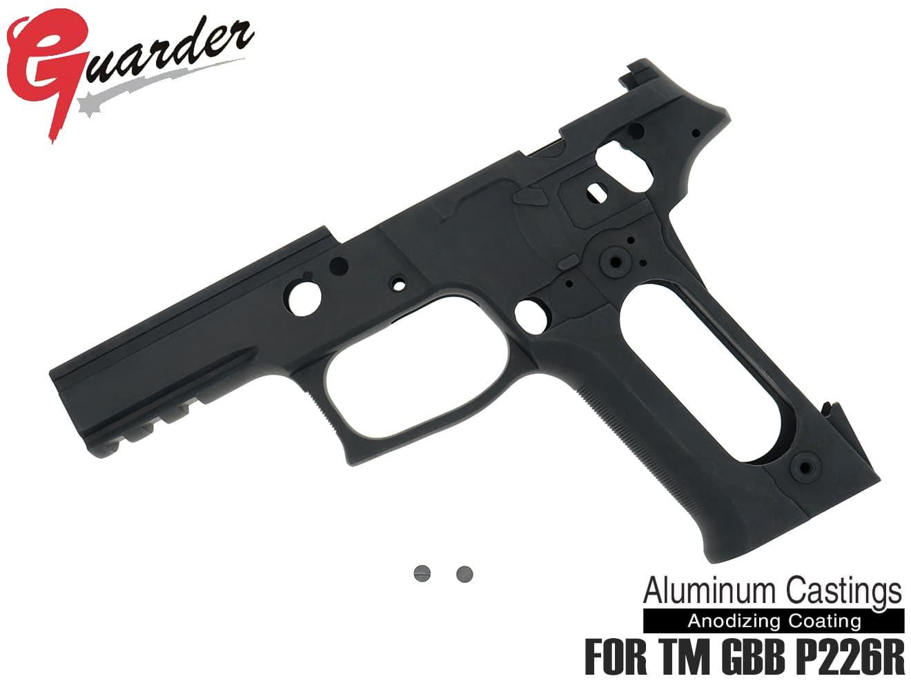 P226-62(BK)■GUARDER P226 RAIL フレームKIT Late Version Marking マルイ P226R用◆BK マルイ ガスブロ P226 RAIL対応 実物後期型形状をリアルに再現