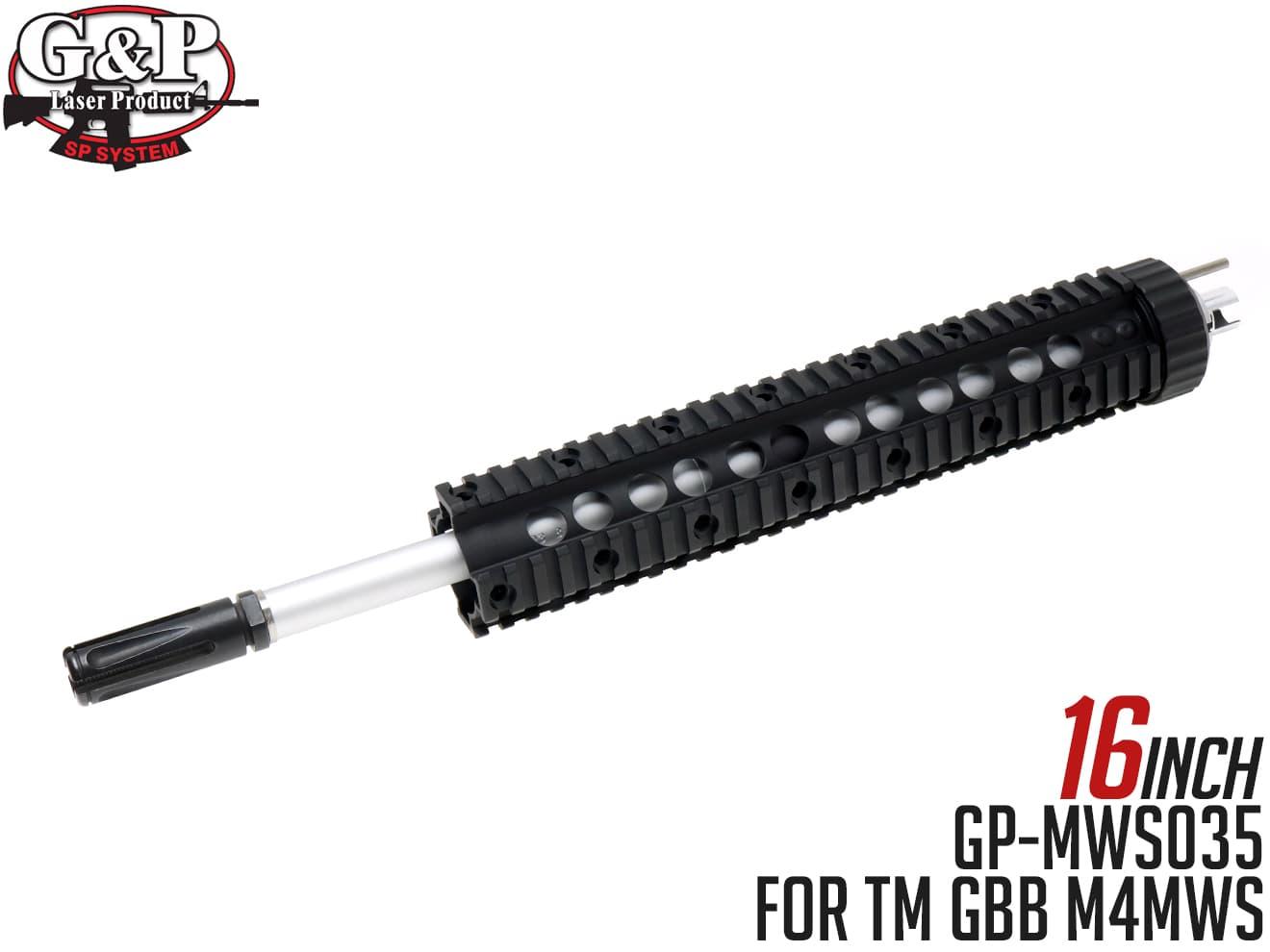 レシーライフル ガスブローバック M4対応 M4MWS RECCE 16インチ TM G&P GBB ◆東京マルイ キット RIFLE仕様にバレル/ハイダー付 for