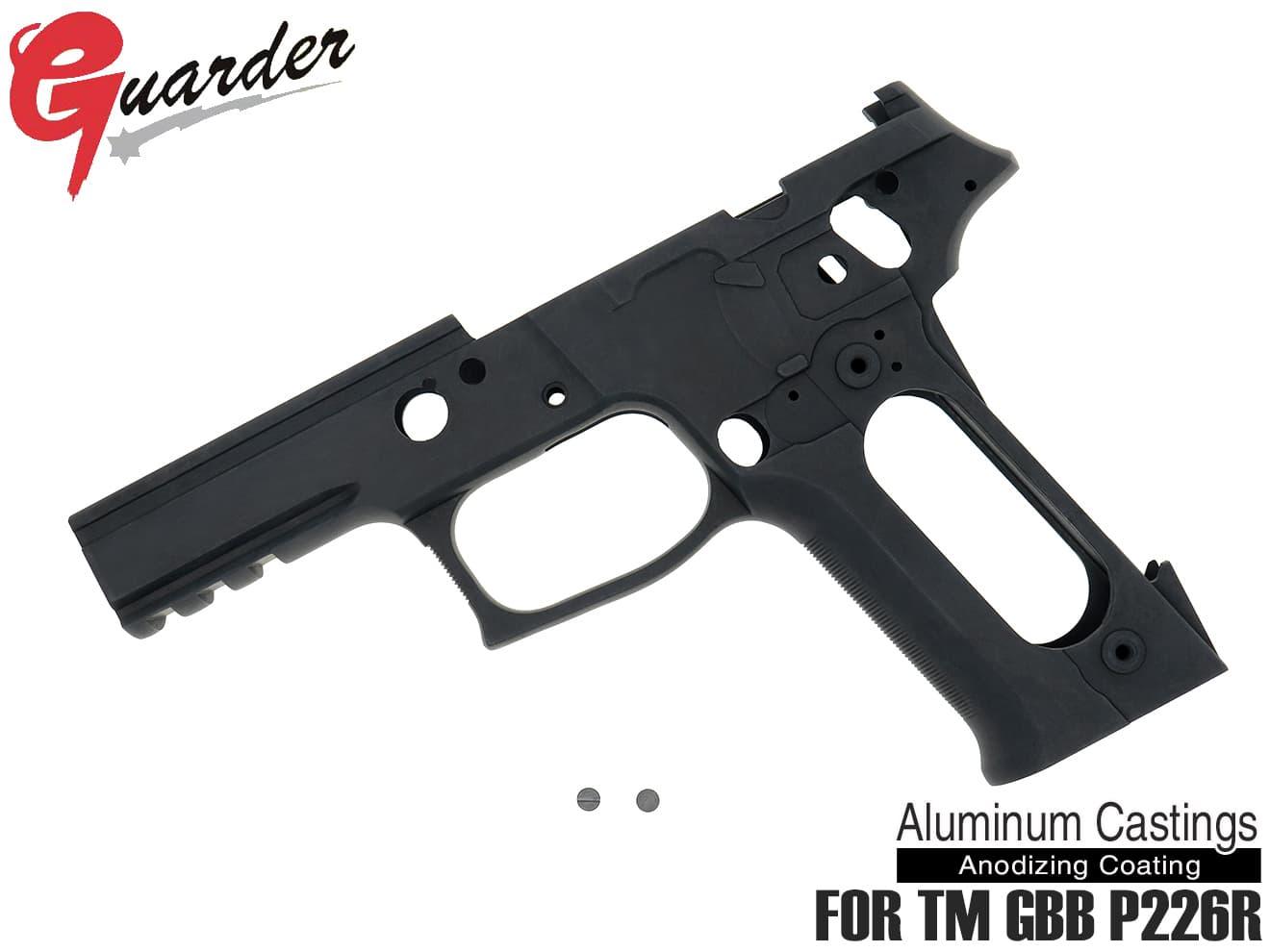 P226 P226-60(B)■GUARDER BK RAIL シグ フレームKIT Rail対応 No P226 for GBB 刻印無し アルミフレーム Marking ザウエル マルイ P226R◆東京マルイ