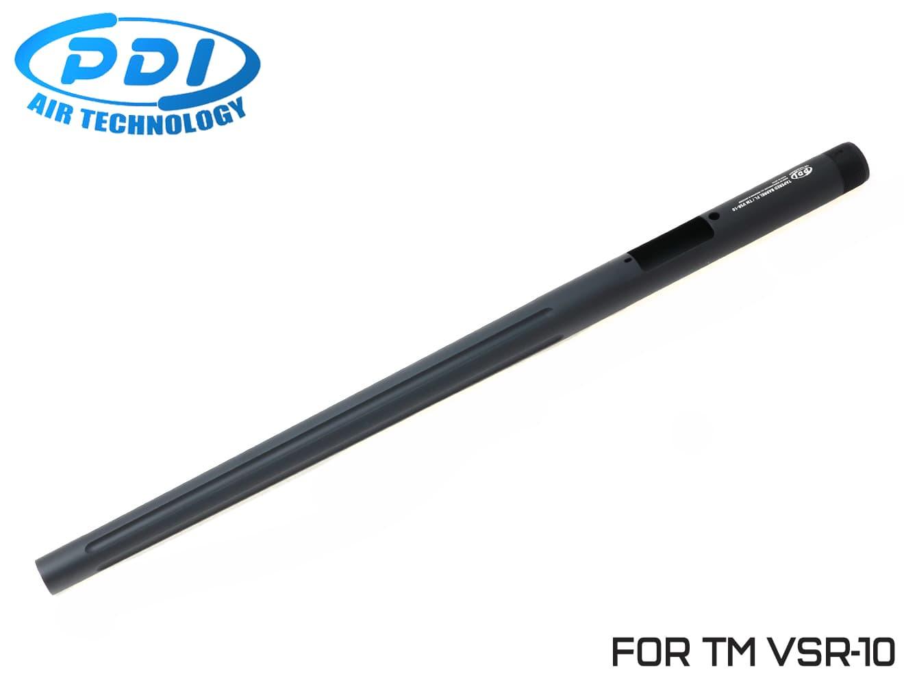 PDI テーパードバレル フルート 東京マルイ VSR-10用 570mm◆フロントヘビー/ワンピースバレル/純正対応/テーパー加工