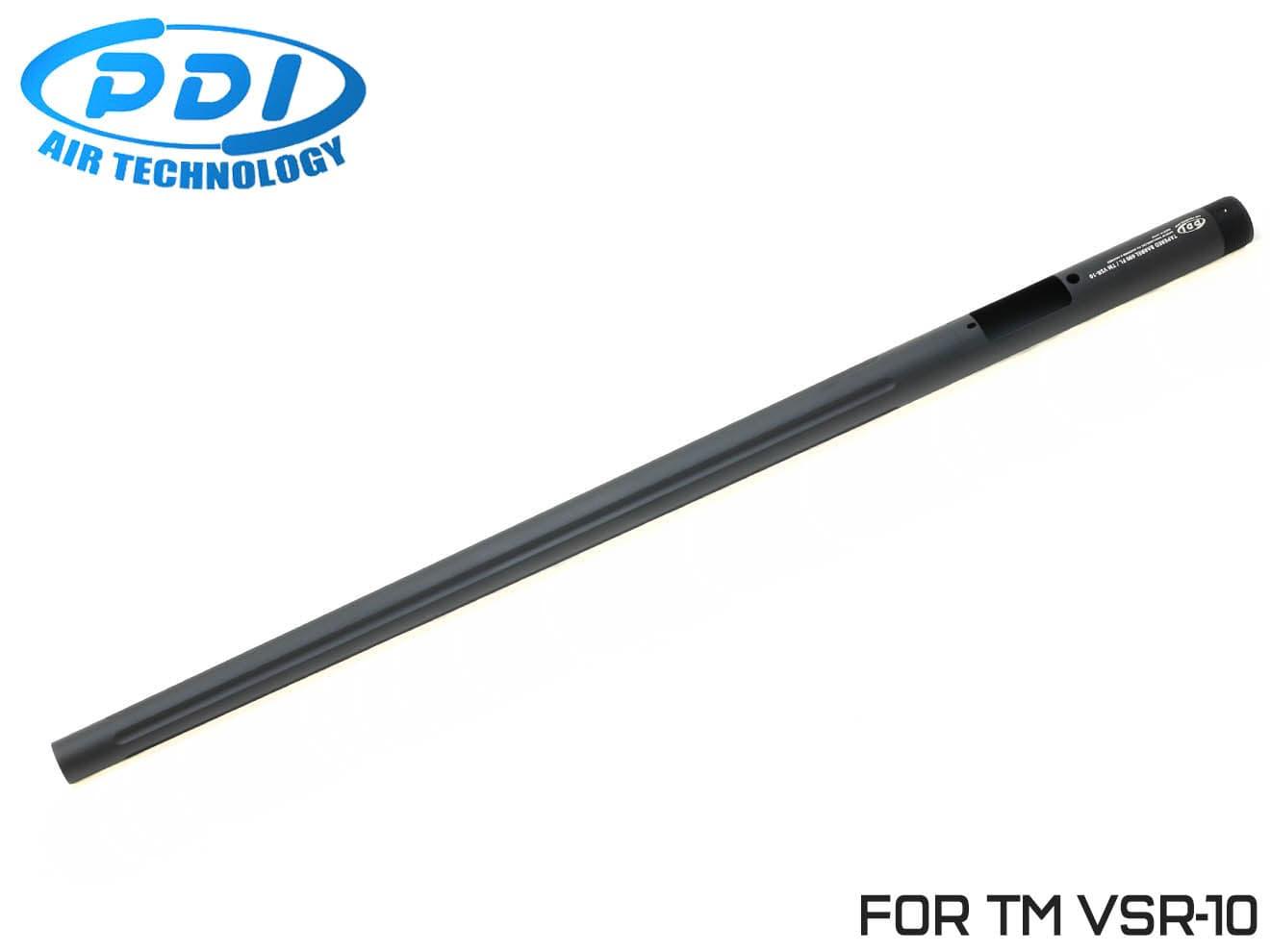 PDI テーパードバレル フルート 東京マルイ VSR-10用 690mm◆フロントヘビー/ワンピースバレル/純正対応/テーパー加工