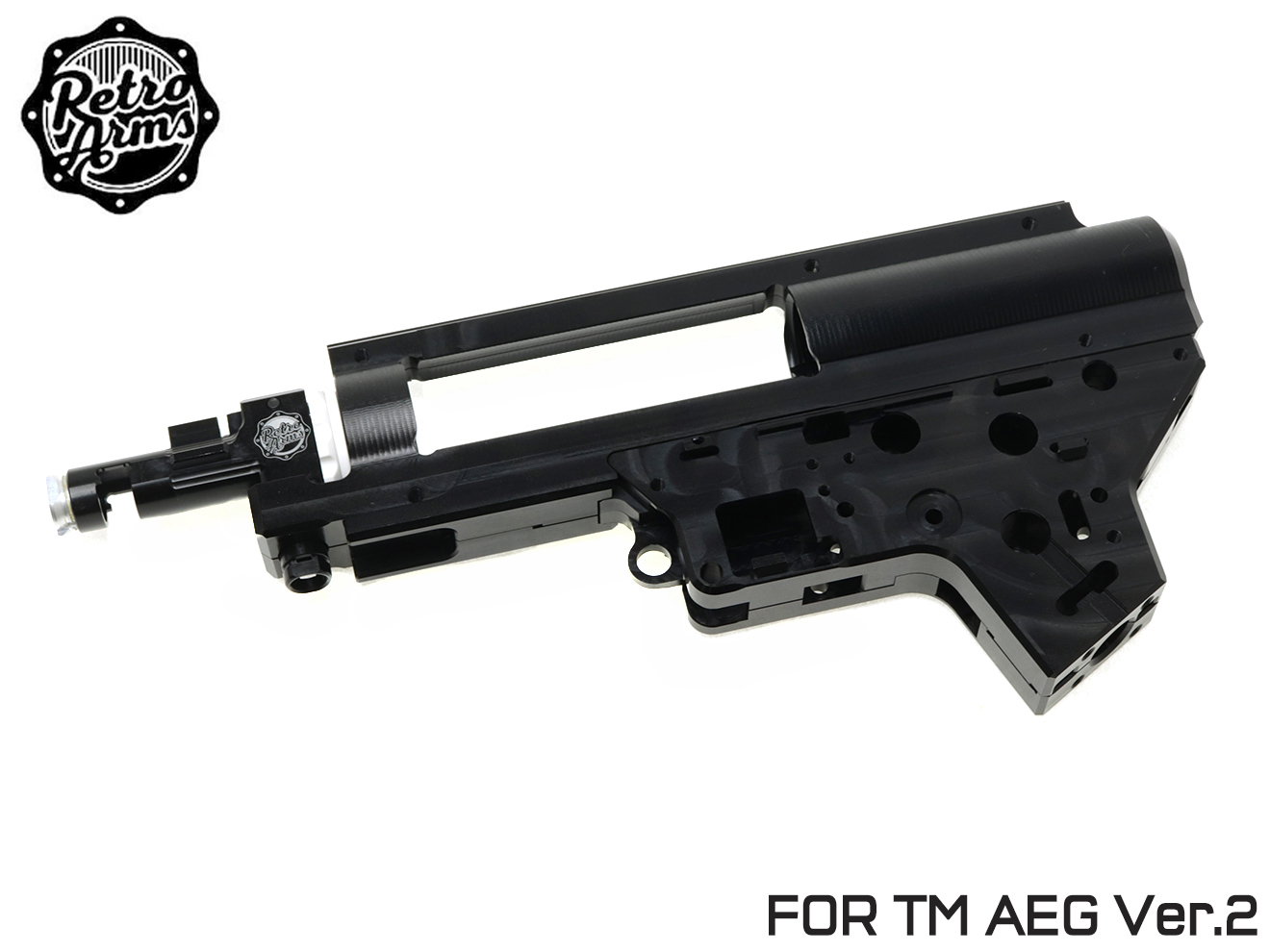 9mmベアリング仕様◆ギアボックス/バージョン2/STD電動ガン/ホップチャンバー CNC ARMS RETRO スプリットメカボックス QSC Ver.2
