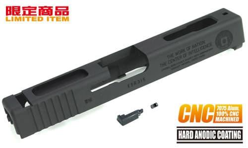 GLOCK-40(BK)■【限定モデル!100%CNC加工】GUARDER(ガーダー) A7075CNC アルミ削り出しスライド CIA BK◆東京マルイG18C