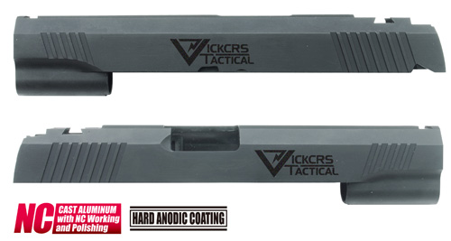 CAPA-21(V)BK■【送料無料】GUARDER Hi-CAPA5.1 CNCアルミスライド VT◆Vickers Tactical/ビッカーズタクティカル/強度アップに!