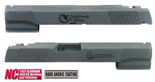 CAPA-22(N)BK■【送料無料】GUARDER Hi-CAPA5.1 CNC アルミスライド NH (Custom Ver)◆NIGHT HAWK/ナイトホーク/硬度向上に!