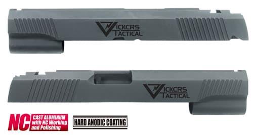 CAPA-22(V)BK■【送料無料】GUARDER Hi-CAPA5.1 CNC アルミスライド VT (Custom Ver)◆Vickers Tactical/ビッカーズタクティカル/質感アップに!