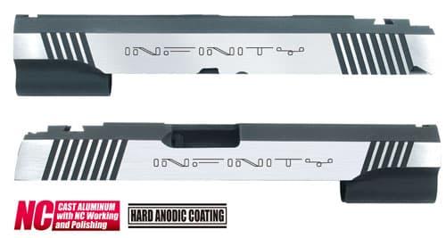 CAPA-23(I)■【送料無料】GUARDER Hi-CAPA5.1 CNC アルミスライド IF (Dual Ver)◆INFINITY/インフィニティ/BK×SILVER/ドレスアップに!