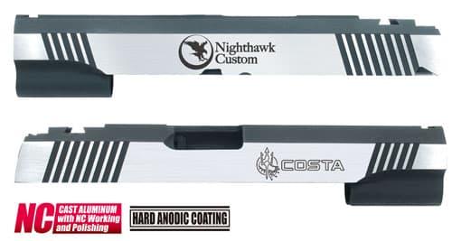 CAPA-23(N)■【送料無料】GUARDER Hi-CAPA5.1 CNC アルミスライド NH (Dual Ver)◆NIGHT HAWK/ナイトホーク/BK×SILVER/ドレスアップに!