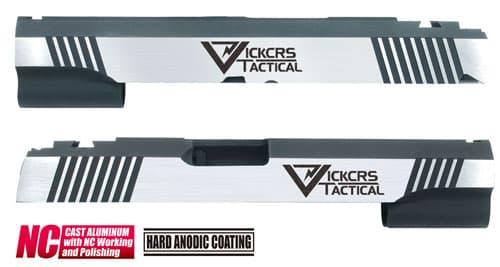 CAPA-23(V)■【送料無料】GUARDER Hi-CAPA5.1 CNC アルミスライド VT (Dual Ver)◆Vickers Tactical/ビッカーズタクティカル/BK×SILVER/ドレスアップに!