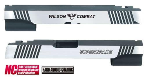 CAPA-23(W)■【送料無料】GUARDER Hi-CAPA5.1 CNC アルミスライド WC (DualVer)◆WilsonCombat/ウィルソンコンバット/BK×SILVER/ドレスアップに!