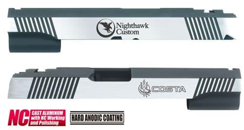 CAPA-24(N)■【送料無料】GUARDER Hi-CAPA5.1 CNC アルミスライド NH (Dual Custom Ver)◆NIGHT HAWK/ナイトホーク/BK×SILVER/ディティールアップに!