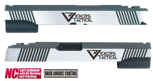 CAPA-24(V)■【送料無料】GUARDER Hi-CAPA5.1 CNC アルミスライド VT (Dual Custom Ver)◆Vickers Tactical/ビッカーズタクティカル/BK×SILVER