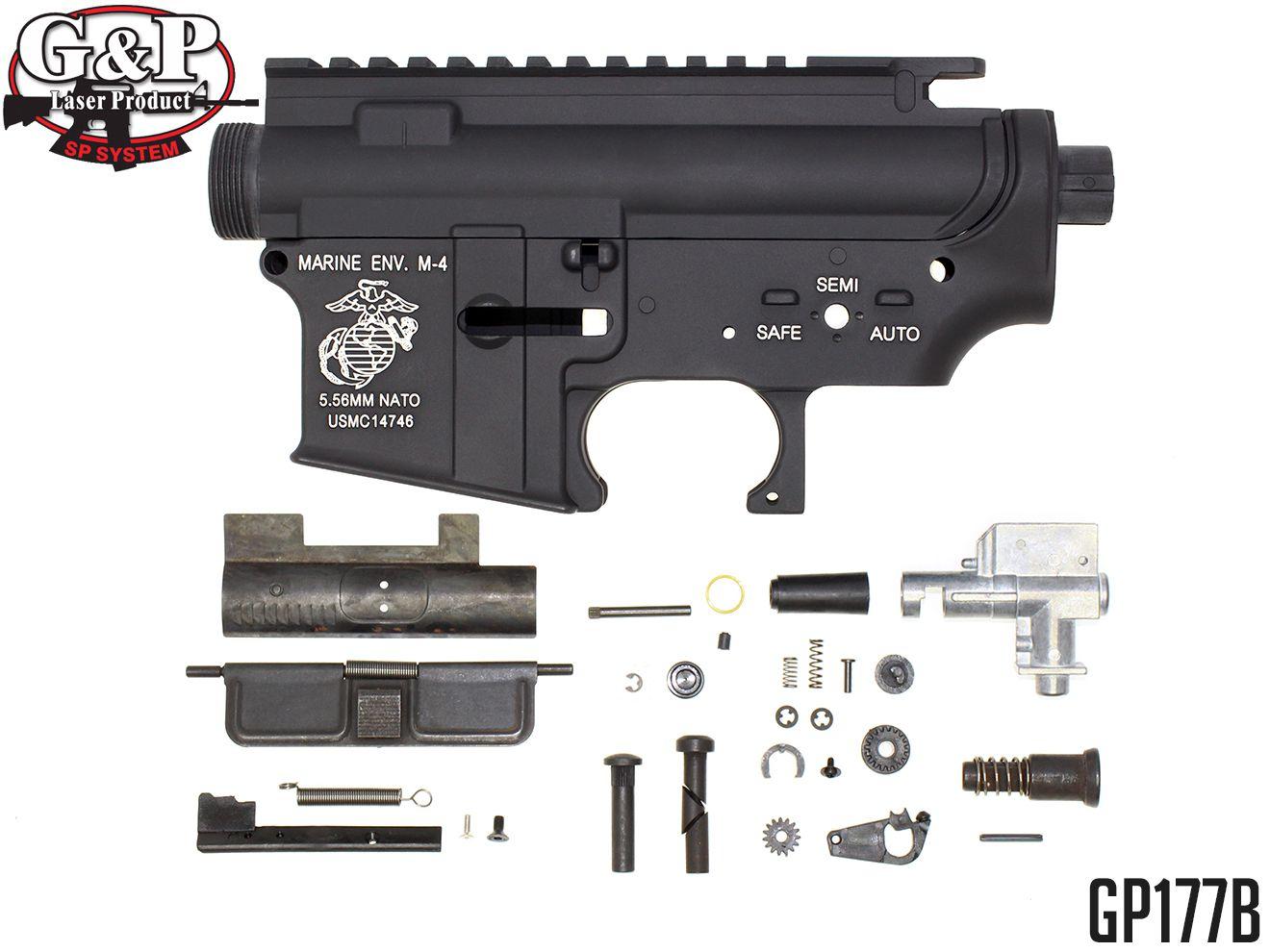 G&P製 GP177Bメタル・フレーム For M4(Marine) Bタイプ★マルイM4/マルイM16