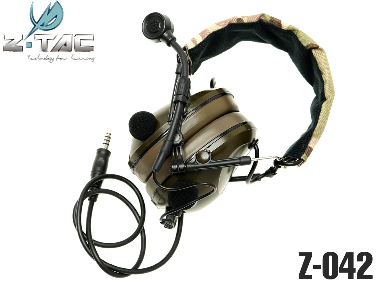 【集音機能&ピークカット機能搭載】ZTACTICAL サウンドトラップ Tactical ヘッドセット◆360度サラウンド機能/サバゲー&コスプレに!