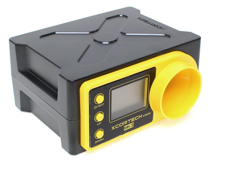 【180日保証付き/完全解説日本語取説付き】XCORTECH X3200Mk3 弾速計/BK◆MicroUSB typeBに対応/サイクル測定可能/ショットメモリー機能搭載/カメラ三脚対応