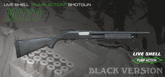 11/14出荷開始 マルゼン ショットガン M870 ブラックバージョン エクステンションカスタム エアガン エアーガン ガスガン