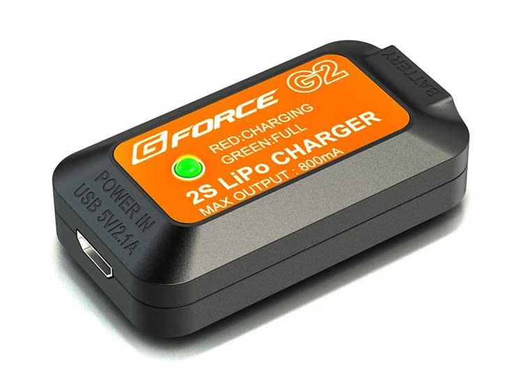 オプションパーツ USBから充電 電動ガン 電池 充電池 お得なキャンペーンを実施中 Gフォース リポ エアガン Charger LiPo 2S エアーガン G2 チャージャー 直送商品