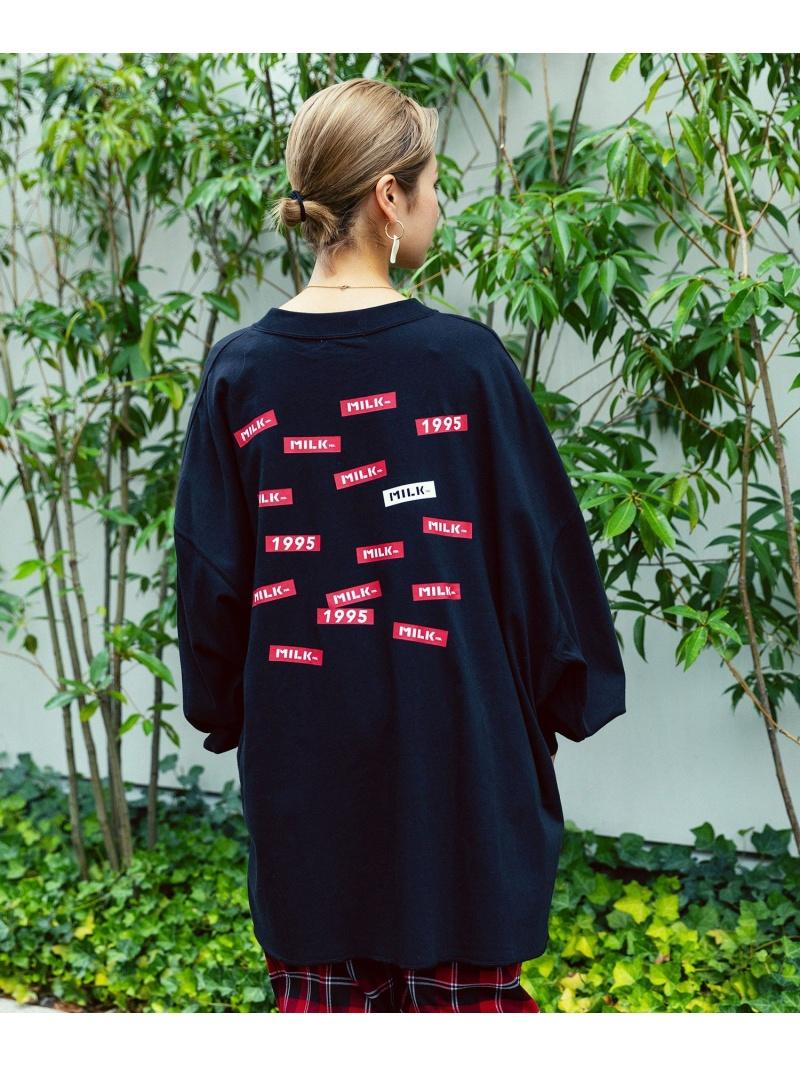 [ Fashion]RANDOM BAR BIG TOP MILKFED. ミルクフェド カットソー Tシャツ ブラック ネイビー ホワイト【】:MILKFED. ミルクフェド