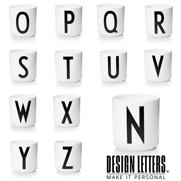 ご予約品 割り引きクーポン配布中 PERSONAL 2020新作 PORCELAIN CUPS BY DESIGN N-Z ポーセリンカップ LETTERS デザインレターズ パーソナル