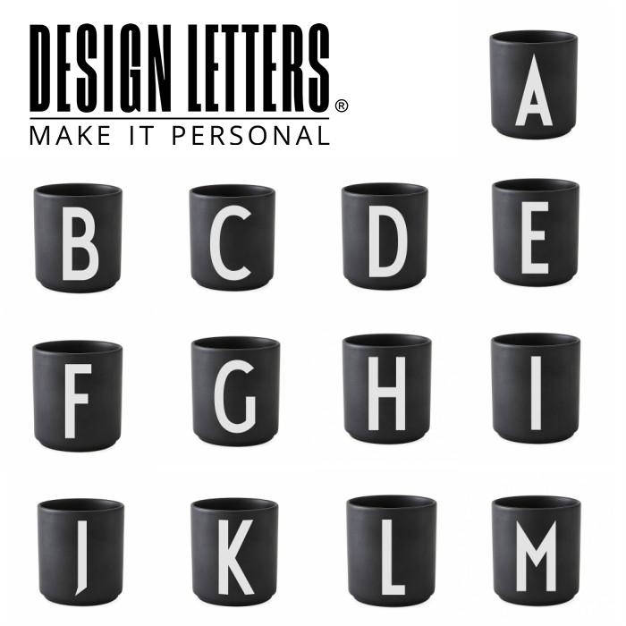 割り引きクーポン配布中 PERSONAL 正規品 BLACK PORCELAIN CUPS A-Z LETTERS DESIGN BY デザインレターズ ファッション通販 パーソナルブラックポーセリンレターマグ