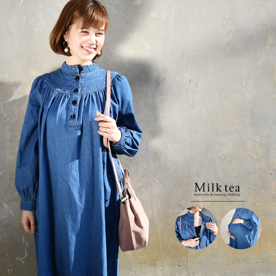 e19a17789abda The design of the wing which is stitch which was sewed to several folds,  gathers, パフィー romantic softly. The denim dresses stylish exceptionally  cutely ...