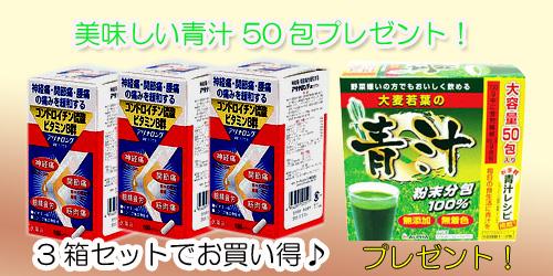 【第3類医薬品】アリナロングDXカプセル【1日2回タイプ】 100CP3箱セット!【美味しい青汁50包1箱プレゼント!付き】