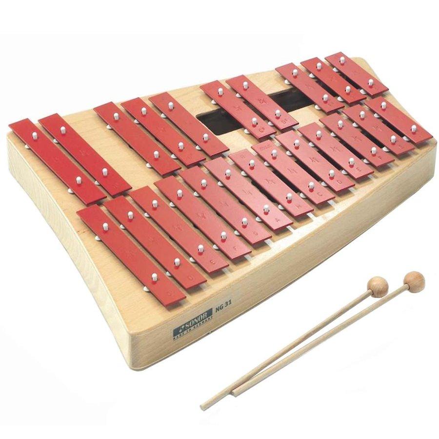 ドイツ製 23音 ウッドマレット2本付 正確な音階 美しい音色 鉄琴 SONOR ゾノア NG-31 グロッケンシュピール 23音 ウッドマレット2本付 打楽器