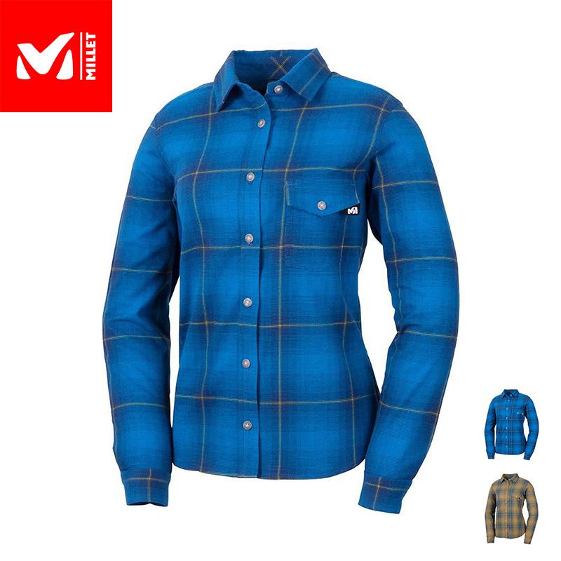 日常からアウトドアまで 超特価SALE開催 コットンのような風合いが魅力の暖かい長袖シャツ 30%OFF 公式 ミレー Millet レディース あす楽 爆売り MIV01742 シャツ クータイ ストレッチ KUHTAI