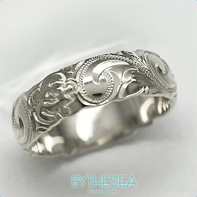 結婚指輪 刻印無料 誕生石ハワイアンジュエリー リング 指輪 刻印無料 誕生石 大きいサイズ 送料無料 オーダーメイドリング マリッジリング ネーム 記念日 誕生日 レディース メンズ 彼女 妻 彼氏 夫 女友達 ジュエリー ペアリングにも ハワジュ WB6A-A 父の日 ミリオンベル