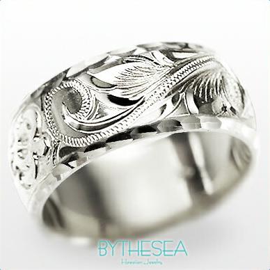 結婚指輪 刻印無料 誕生石ハワイアンジュエリー リング 指輪 刻印無料 誕生石 大きいサイズ 送料無料 オーダーメイドリング マリッジリング ネーム 記念日 誕生日 レディース メンズ 彼女 妻 彼氏 夫 女友達 ジュエリー ペアリングにも ハワジュ WB8A-C 父の日 ミリオンベル