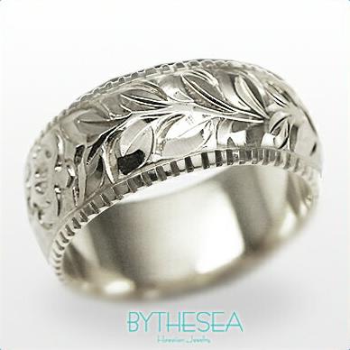 結婚指輪 刻印無料 誕生石ハワイアンジュエリー リング 指輪 刻印無料 誕生石 大きいサイズ 送料無料 オーダーメイドリング マリッジリング ネーム 記念日 誕生日 レディース メンズ 彼女 妻 彼氏 夫 女友達 ジュエリー ペアリングにも ハワジュ WB8B-D 父の日 ミリオンベル