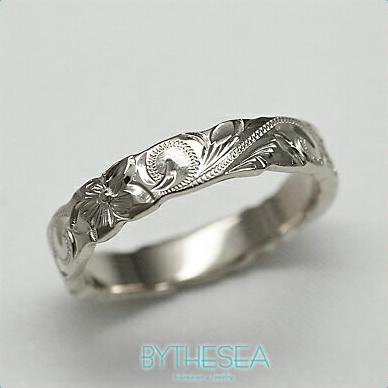 結婚指輪 刻印無料 誕生石ハワイアンジュエリー リング 指輪 刻印無料 誕生石 大きいサイズ 送料無料 オーダーメイドリング マリッジリング ネーム 記念日 誕生日 レディース メンズ 彼女 妻 彼氏 夫 女友達 ジュエリー ペアリングにも ハワジュ WF4A-A 父の日 ミリオンベル