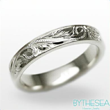 結婚指輪 刻印無料 誕生石ハワイアンジュエリー リング 指輪 刻印無料 誕生石 大きいサイズ 送料無料 オーダーメイドリング マリッジリング ネーム 記念日 誕生日 レディース メンズ 彼女 妻 彼氏 夫 女友達 ジュエリー ペアリングにも ハワジュ WF4A-E 父の日 ミリオンベル
