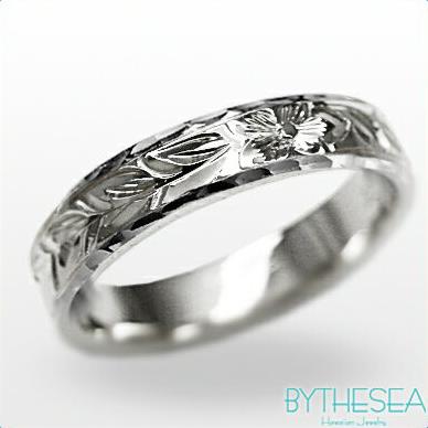 結婚指輪 刻印無料 誕生石ハワイアンジュエリー リング 指輪 刻印無料 誕生石 大きいサイズ 送料無料 オーダーメイドリング マリッジリング ネーム 記念日 誕生日 レディース メンズ 彼女 妻 彼氏 夫 女友達 ジュエリー ペアリングにも ハワジュ WF4B-C 父の日 ミリオンベル
