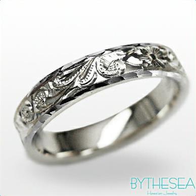 結婚指輪 刻印無料 誕生石ハワイアンジュエリー リング 指輪 刻印無料 誕生石 大きいサイズ 送料無料 オーダーメイドリング マリッジリング ネーム 記念日 誕生日 レディース メンズ 彼女 妻 彼氏 夫 女友達 ジュエリー ペアリングにも ハワジュ WF4C-C 父の日 ミリオンベル