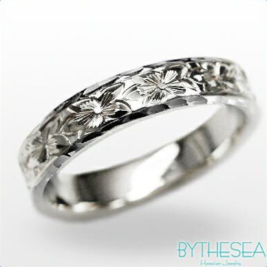 結婚指輪 刻印無料 誕生石ハワイアンジュエリー リング 指輪 刻印無料 誕生石 大きいサイズ 送料無料 オーダーメイドリング マリッジリング ネーム 記念日 誕生日 レディース メンズ 彼女 妻 彼氏 夫 女友達 ジュエリー ペアリングにも ハワジュ WF4D-C 父の日 ミリオンベル