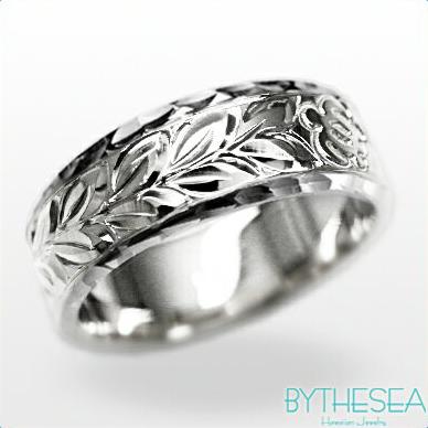 結婚指輪 刻印無料 誕生石ハワイアンジュエリー リング 指輪 刻印無料 誕生石 大きいサイズ 送料無料 オーダーメイドリング マリッジリング ネーム 記念日 誕生日 レディース メンズ 彼女 妻 彼氏 夫 女友達 ジュエリー ペアリングにも ハワジュ WF6B-C ミリオンベル 母の日