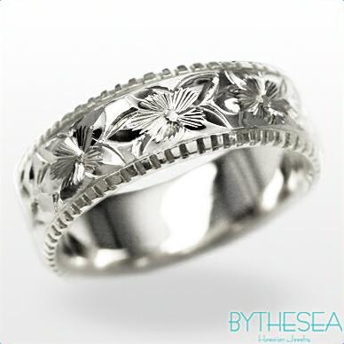 結婚指輪 刻印無料 誕生石ハワイアンジュエリー リング 指輪 刻印無料 誕生石 大きいサイズ 送料無料 オーダーメイドリング マリッジリング ネーム 記念日 誕生日 レディース メンズ 彼女 妻 彼氏 夫 女友達 ジュエリー ペアリングにも ハワジュ WF6D-D 父の日 ミリオンベル
